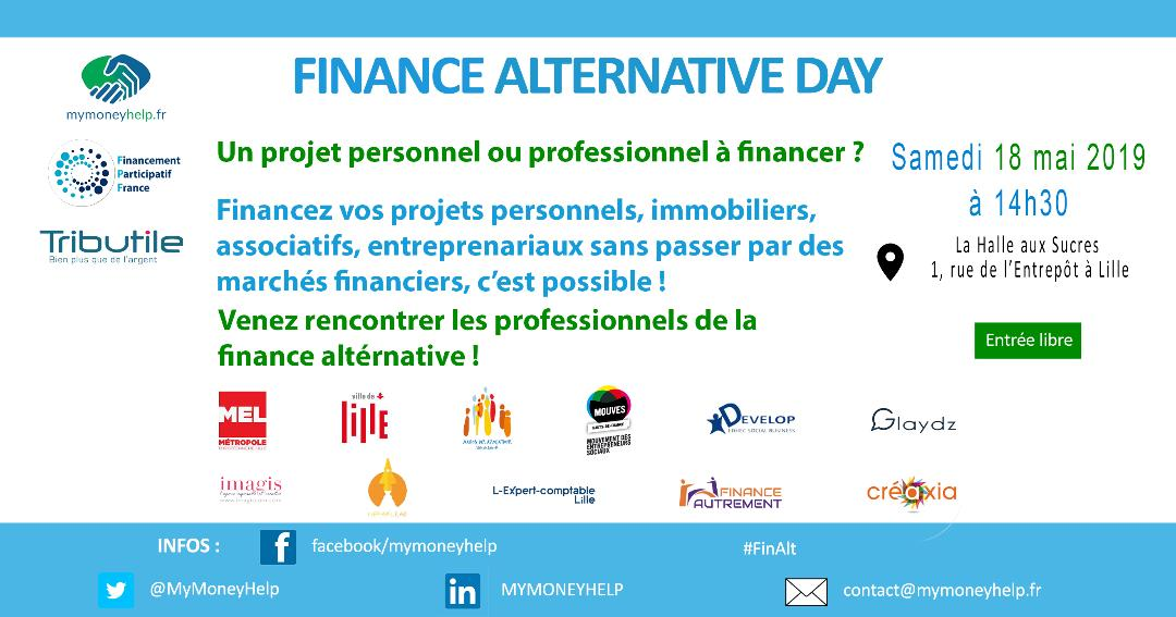 fête finance alternative flyer